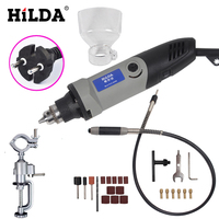 HILDA 400W Mini Dremel Rotary Tool Grinder Grinder Electric Variable Speed Drill Demolition Tool Dremel Style Accessories