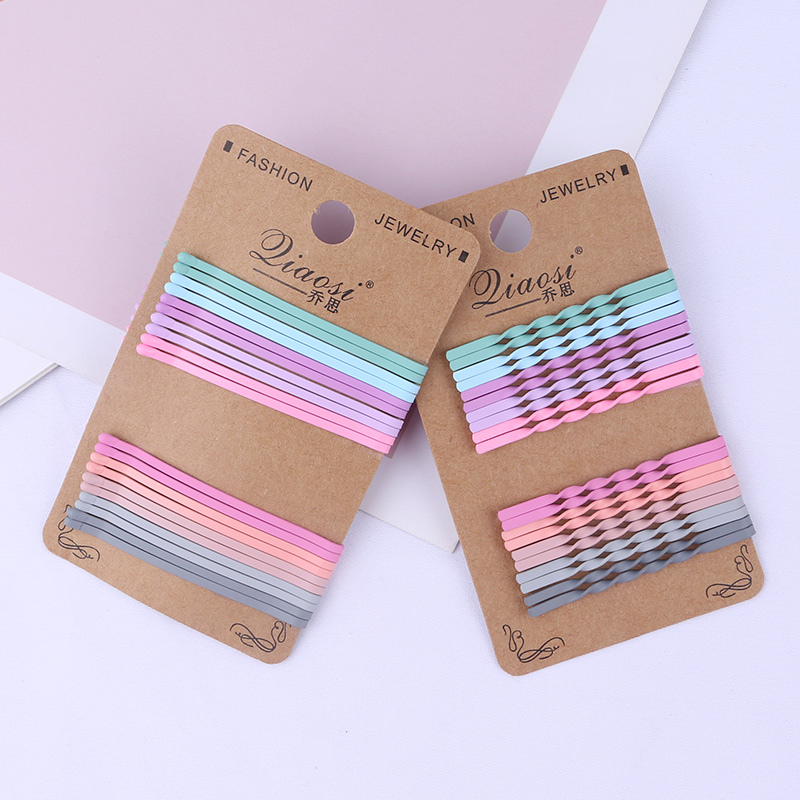 20pcs Flat Wave Spiral Pastel Color Bobby Pins Hair Clips Metal Fashipn Barrettes Women Girls Styling Hair Accessories Hairpins
