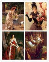 Бесплатная доставка, набор, клиторальный рисунок, Женский рисунок на холсте, масляная живопись, напечатанный на холсте, домашний настенный ...