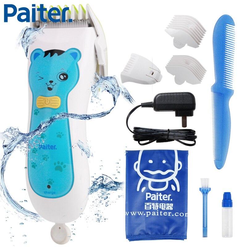 Paiter électrique tondeuse à cheveux tondeuse pour enfants coupe-cheveux Machine coupe lavable enfants utilisation