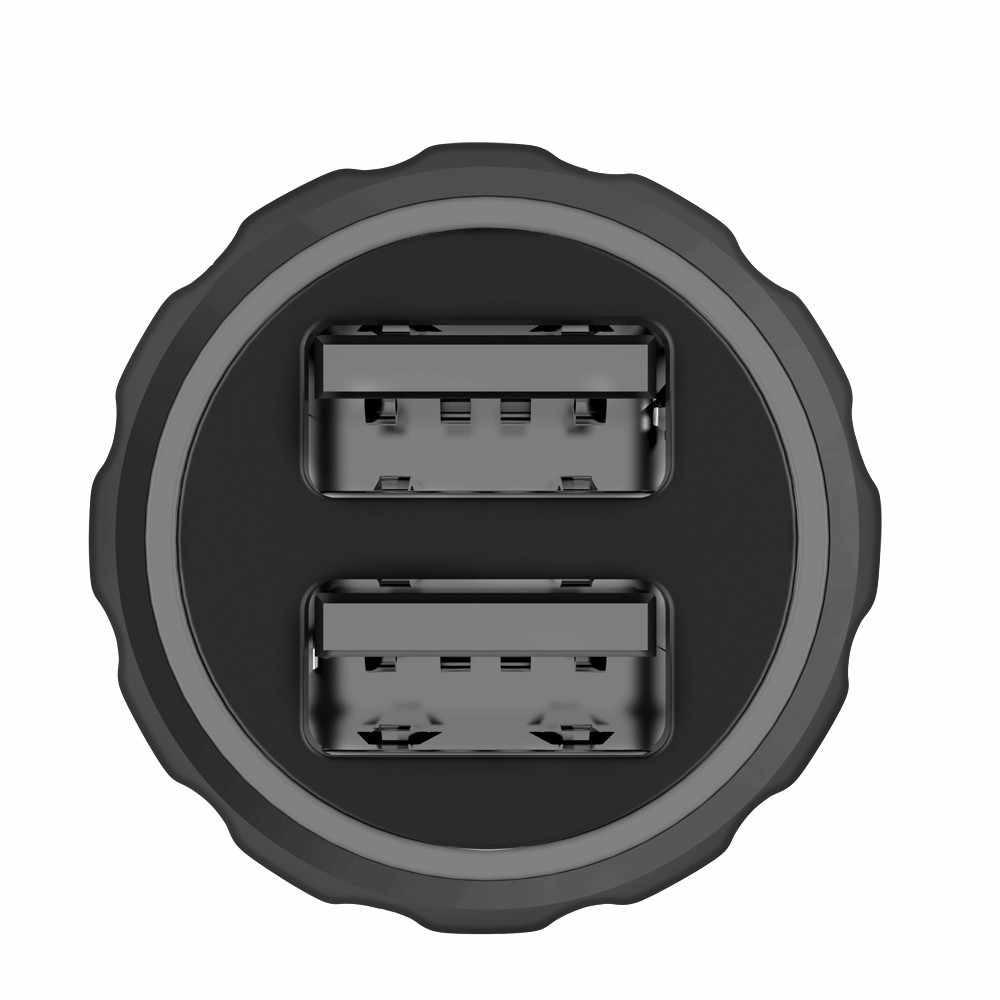 USB شاحن سيارة 1 قطعة 3.1A مزدوجة USB شحن نقطتين التنفس مصباح السيارات ل Xiaomi لهواوي QC3.0 شاحن # YL1