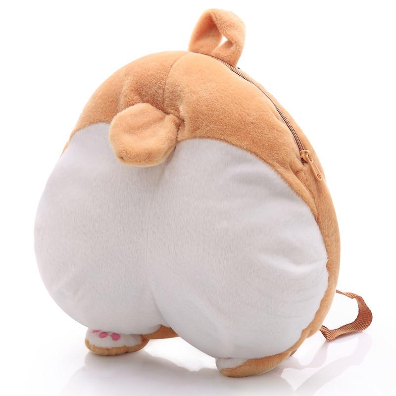 1pc 38cm*36cm Plush Corgi Backpack Cute Pet Dog Plush Children's School Bags Creative Gift for Kids сумка для ноутбука pc pet pcp a9015bk