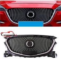 CITYCARAUTO FRONT RACING GRILL GRILLS BUMPER MASK FIT FOR NEW MAZDA 3 AXELA 2017 2018 DIAMOND STAR GRILLE EXTERIOR COVER PARTS