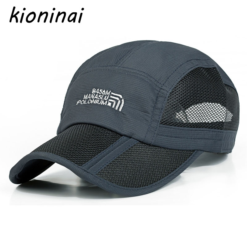 Foldable   Baseball     Cap   Sport Quick-drying Outdoor Snapback Summer Hat 8 Colors Bone Gorras Casquette
