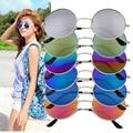 6 Colors Unisex Fashion Elegant Style Retro Women Round Metal Sunglasses UV Protection Luxury Vintage Goggles