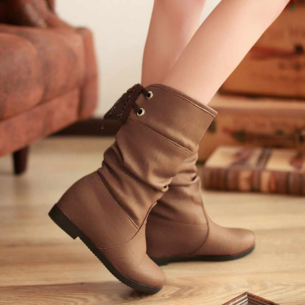 Golden Winter Womens Snow Boots Female Warm Plush Insole High Quality Botas Mujer Size 36-40