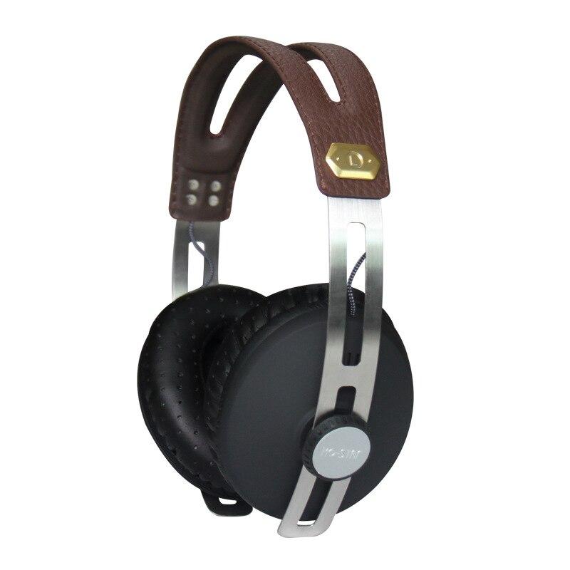 professional monitor music dj headphones with retro design hifi portable dj headset with mic. Black Bedroom Furniture Sets. Home Design Ideas