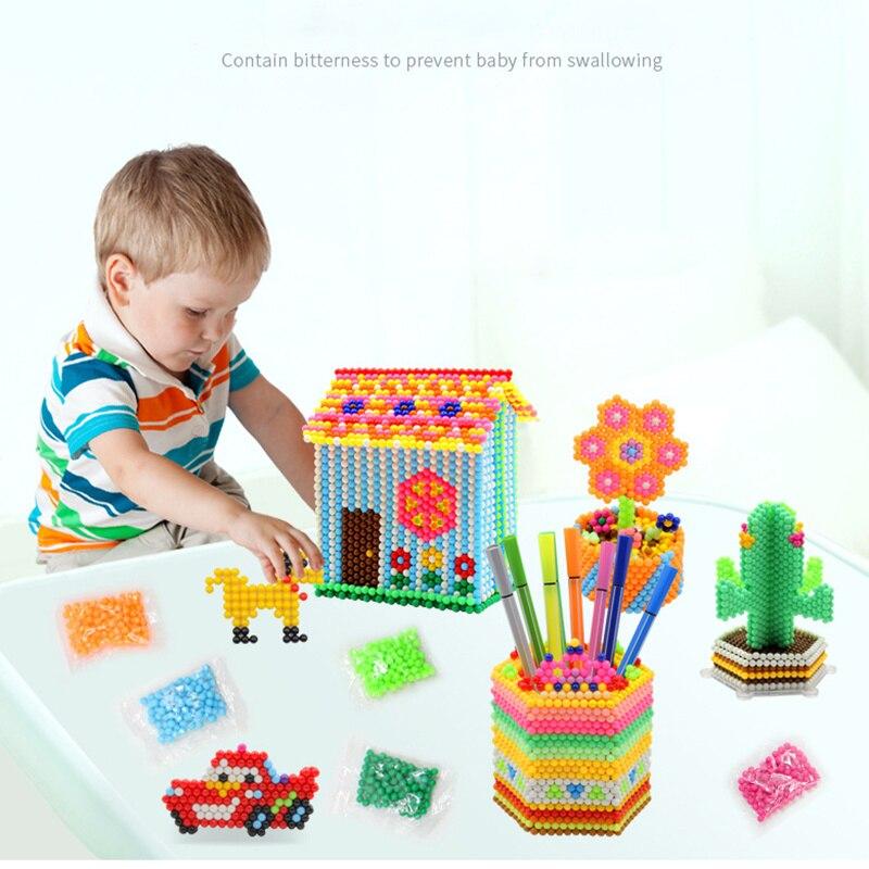 24 цвета, 500 шт, 5 мм, бусины с распылителем воды, сделай сам, 3D головоломка, игрушка, Хама, бусины, магические бусины, развивающий подарок, вода, Perlen, обучающие игрушки для детей