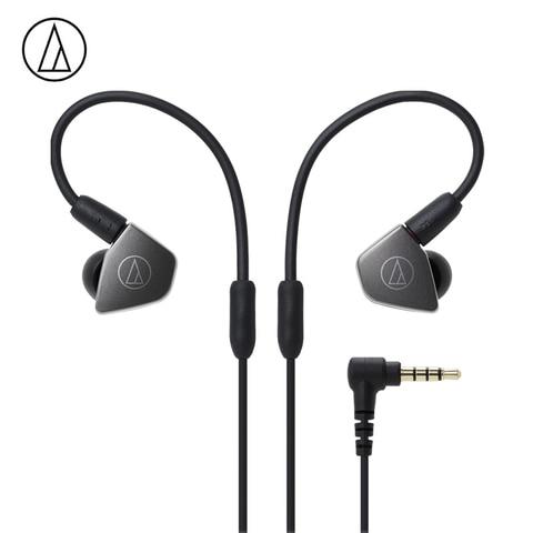 Fone de Ouvido com Fio Fone de Ouvido Monitor de Esportes de Controle Original Audio Technica Hifi Duplo Dinâmico Remoto Microfone Ath-ls70is