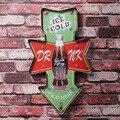 Ice cold Beer Bar Beber Cerveja tabuleta Publicidade LEVOU sinais de metal decoração da parede do metal sinais de néon para bar