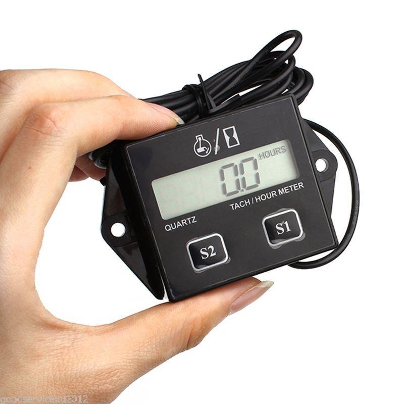 LCD Affichage Numérique Moto Tachymètre LCD Minuterie Bateau À Moteur Moteur Tachymètre Électronique Bateau Moteurs Compteurs RPM RPM Compteur