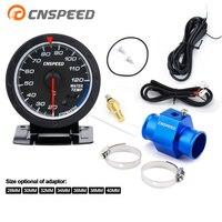 Medidor de temperatura de 60MM CNSPEED, 20 -- 120 C, medidor de temperatura de agua, iluminación roja y blanca, agua de coche con adaptador de sensor