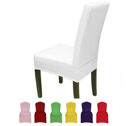 Spandex Chair Cover Pure Color8 Colors Stretch Short Dining Chair Cover Machine Washable New Restaurant
