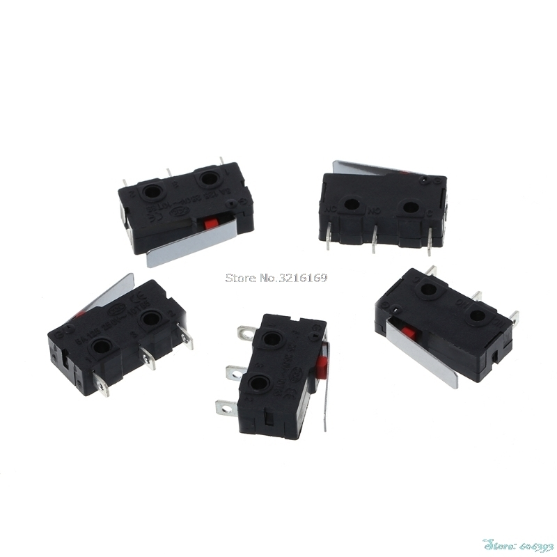 For 5Pcs/Set Travel Limit Switch 3 Pin N/O N/C 5A 250VAC KW11-3Z Micro Switch Promotion