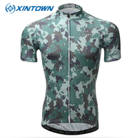 XINTOWN Breathable Camouflage Short Cycling Jersey Summer Racing Bicycle Clothing Ropa Ciclismo Hombre Bike Clothes Wear