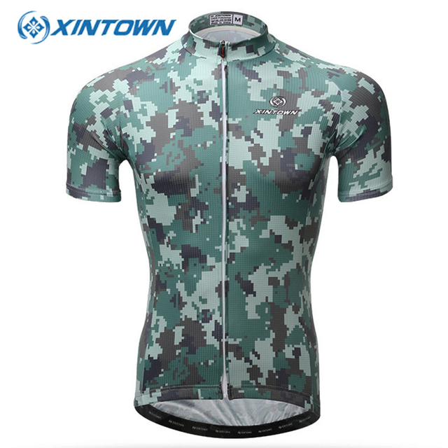 43b19a327 XINTOWN Breathable Camouflage Short Cycling Jersey Summer Racing Bicycle  Clothing Ropa Ciclismo Hombre Bike Clothes Wear
