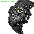 2016 New Brand SANDA Fashion Watch Reloj Hombre Men G Style Waterproof Sport Quartz Watches Shock Men's Relogio Digital Watch