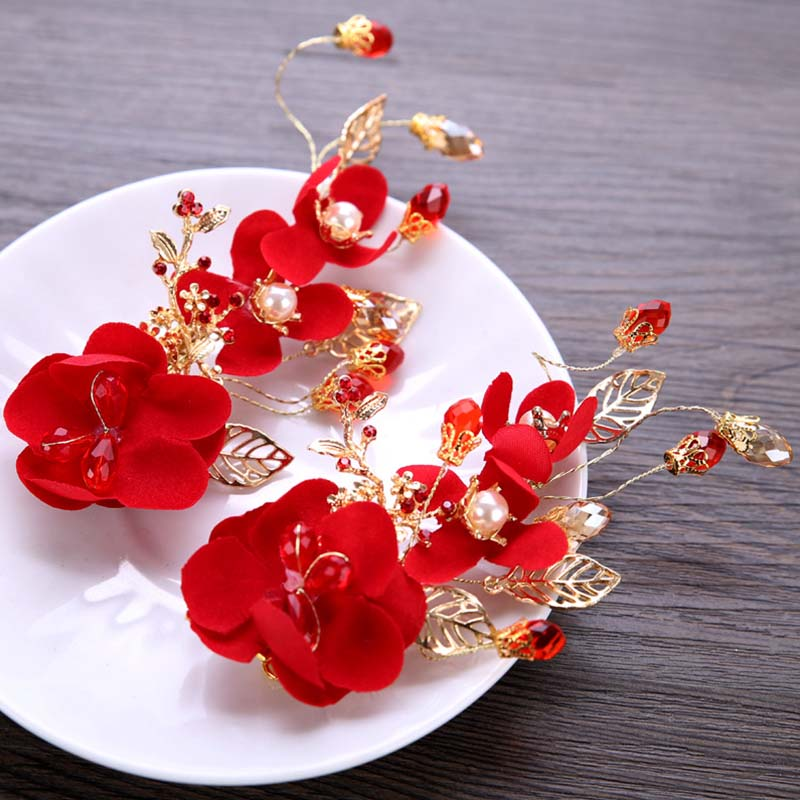 Jewellery & Watches The Cheapest Price Women Rhinestone Red Rose Flower Brooch Pin Wedding Party Jewelry Gift Kindly Costume Jewellery