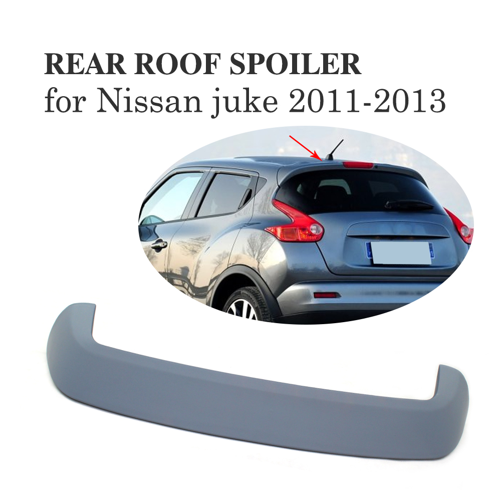 Rear Roof Spoiler Trunk Boot lip Wing for Nissan juke 2011-2013 ABS Gray Primer Car accessories