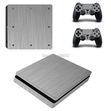 For PS4 Slim Accessories Light Wood Grain Skin Cover Skin Sticker For PlayStation 4 Slim Console + 2Pcs Free Controller Cover