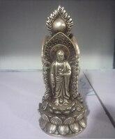 Ofícios do Metal Velho 18c Prata Estátua/Escultura trinity Ocidental Fada Buda  Transporte rápido Estátuas e esculturas Casa e Jardim -