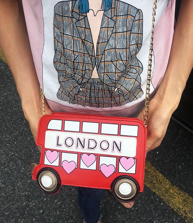 Bolsa divertida Autobús Londres