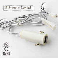 New Arrival DC12V IR Sensor Switch Smart Infrared LED Light Controller Used With Cabinet Lamp LED
