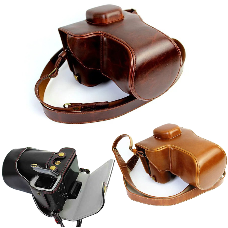 PU Leather Camera Bag For Sony ILCE 7M3 A7III A7RIII A7MIII A7RMIII A7R3 A7M3 A7RM3 A7R Mark III 3 Open Battery Camera CasePU Leather Camera Bag For Sony ILCE 7M3 A7III A7RIII A7MIII A7RMIII A7R3 A7M3 A7RM3 A7R Mark III 3 Open Battery Camera Case
