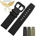 Nylon pulseira 22 mm preto novo dos homens de alta qualidade de couro faixa de relógio pulseiras único piloto