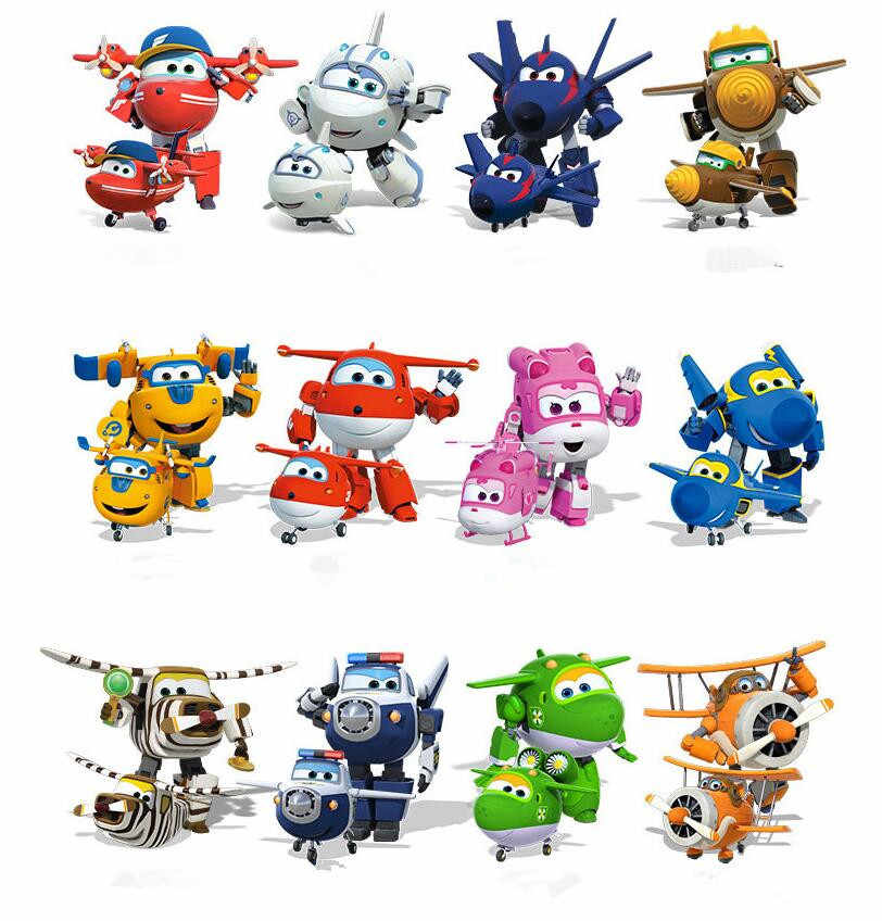 13styles Newest 7cm Super Wings toys Mini Planes Transformation Robot Action Figures toys baby toys For Children Gift Brinquedos