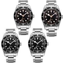 Corgeut Luxury Brand Sapphire Glass Black Dial Military Mechanical Watch Men MIYOTA Automatic Design Clock Mechanical WristWatch цена и фото