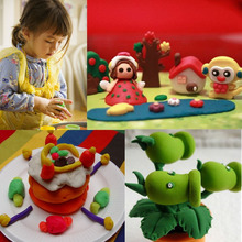 Resin Play Clays For Children Air Dry Colored Soft Modelling Foam Play Clay & Dough Plastic Package 6 Color 13.7x11.5cm, 1 Piece
