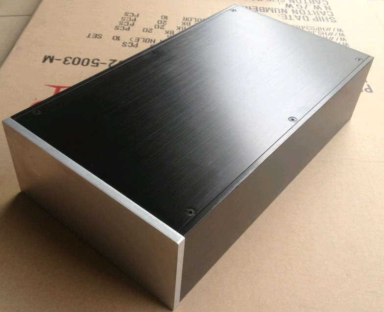 case 200*90*358mm DIY aluminum amplifier chassis/Pre-amp chassis/DAC decoder case/Separate case/AMP case Enclosure /PSU Box DIY case size 360 80 268mm bz3608a the new silver aluminum amplifier chassis pre amplifier chassis amp case enclosure box diy