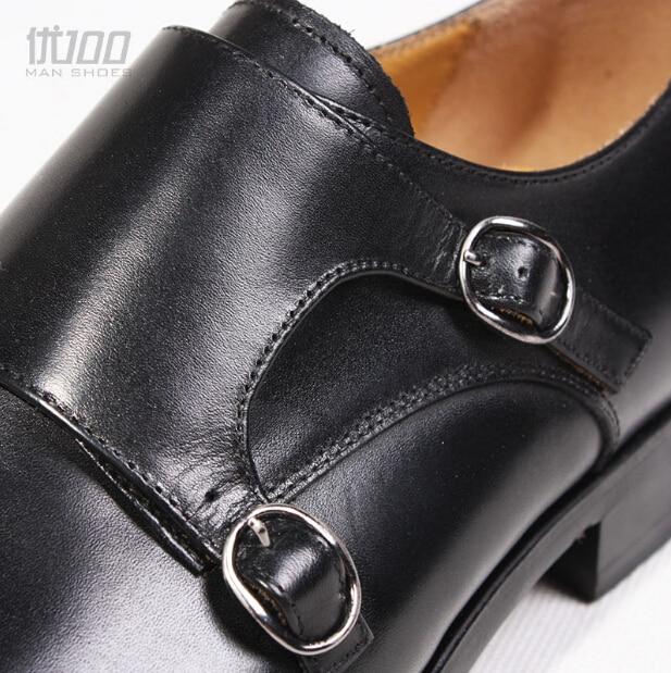 Mönch Herren Chaussure Leder 2017 As Formale Eu45 Homme Farbe Handgemachte Schwarz Echte Shown Qualität Männer Top Business Italien Schuhe z6t6X1