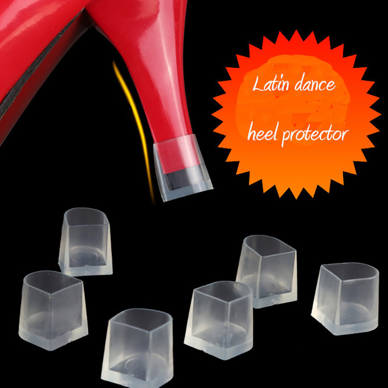 USHINE Heel Latin Protector Dance Covers Heel Stoppers Non-slip Silicone High Heeler Ballroom Wedding Latin Dance Shoes Woman