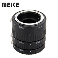 Meike Auto Focus Metal AF Macro Extension Tube Set for Nikon D7100 D7000 D5100 D5300 D3100 D800 D750 D600 D90 D80 DSLR Camera