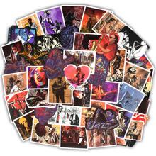 50 個ミックスレトロロック音楽コンピュータステッカーラップトップスキンビニールステッカーモトスーツケースデカール装飾macbook air 11 13