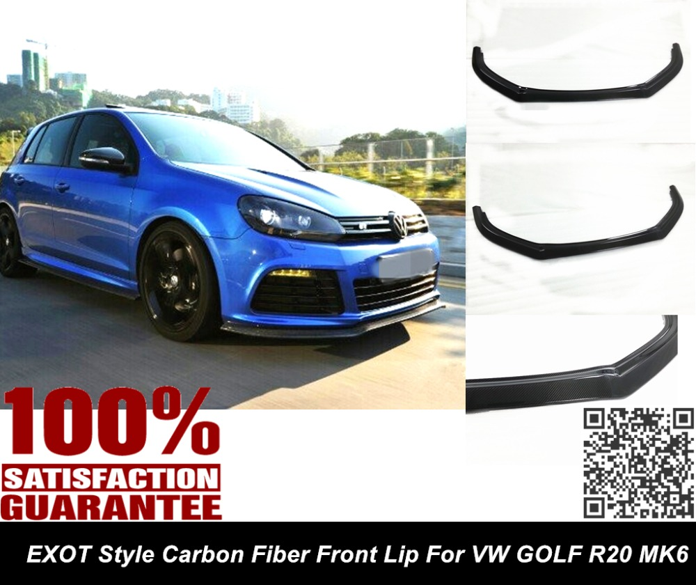 Aliexpress com buy vw golf r mk6 styling r cf carbon fiber front lip spoiler splitter nice fitment awesome looking from reliable lip spoiler suppliers
