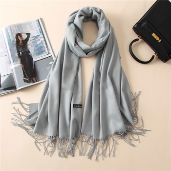 Cashmere Solid Thin Shawls Head Scarves Scarfs Accessories Apparels Autumn Spring Summer Women