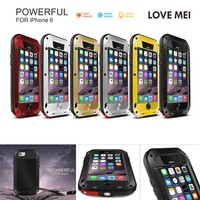 LOVE MEI Life Waterproof Armor Metal 6s Case on for apple iPhone 6 plus 6s plus 7 plus 7plus case shockproof cover Gorilla Glass
