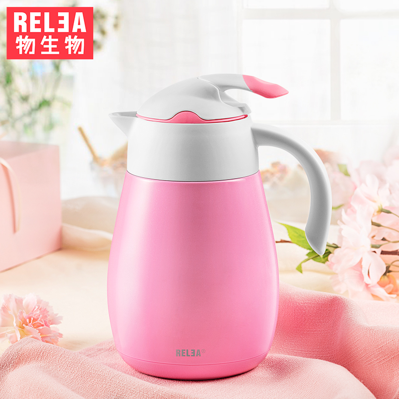 1 2L high quality European style household jug stainless steel vacuum double layer hot cold flask
