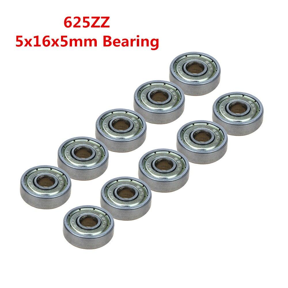 50pcs Double Shielded Miniature GCR15 Steel Single Row 625ZZ P0.ZV1 / ABEC-1.Z2 Deep Groove Ball Bearing 5*16*5 5x16x5 625 ZZ 2Z 20pcs double shielded miniature gcr15 steel single row 624zz abec 5 deep groove ball bearing 4 13 5 4x13x5 mm 624 zz 2z
