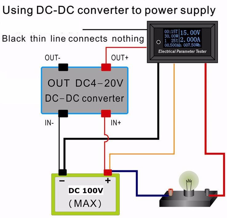 OLED 100 V/10A DC Voltmeter anzeige monitor tester Strom Meter ...