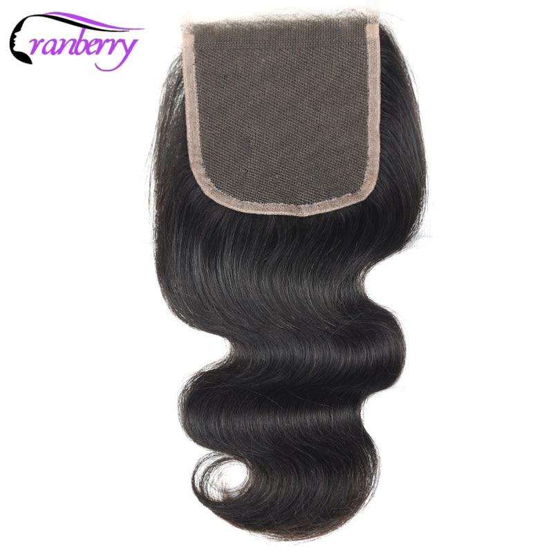 Cranberry Hair 4*4 Body Wave Human Hair Closure 8