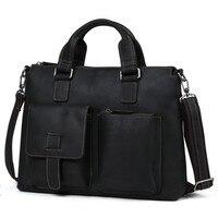 Новое поступление Для мужчин Сумки из натуральной кожи Для мужчин сумка Винтаж сумки на плечо Курьерские сумки одноцветное Crossbody сумка для