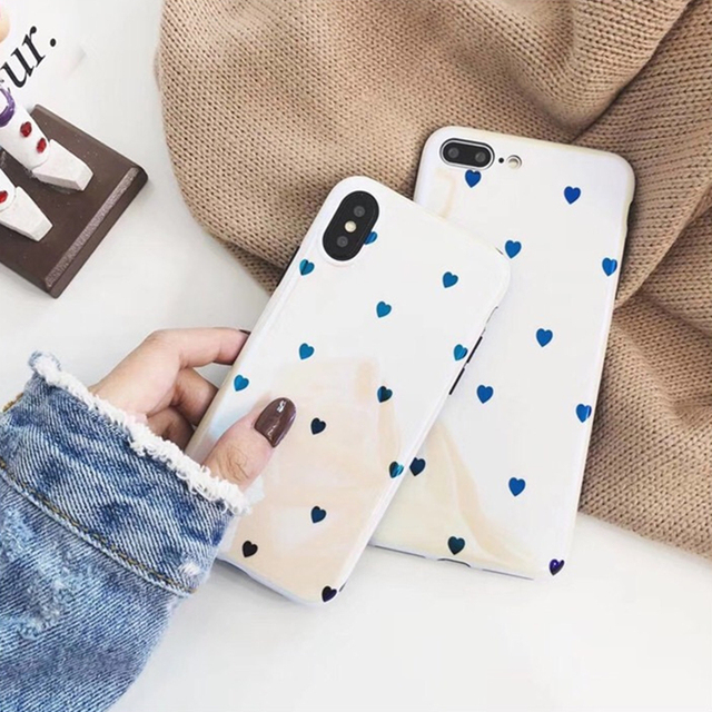 87a23c02d820 BINYEAE Laser Blu-ray White lily Love Heart Phone Case For iPhone 6 6S 7 8  Plus X Case Soft TPU Back Cover For Coque iPhone X