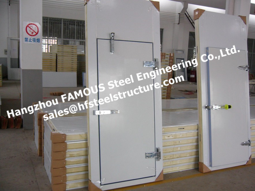 Pu Insulated Sandwich Panel For Cold Room Half Buried Door