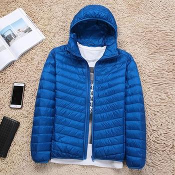 2018 New Autumn Winter Ultra Light Duck Down Coats Men Casual Plus Size Jacket Warm Parkas Hooded Slim Short Down Jacket