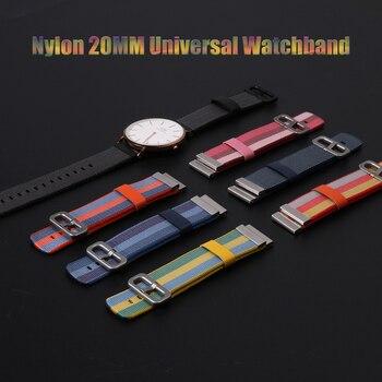 SIKAI 20mm Universal Ersatz Nylon Armband Für Xiaomi Huami Aamazfit Smartwatch Band Strap Für Aamazfit bip bit Armbänder