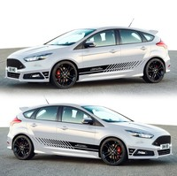 2PCS Cover Both Sides Reflective Car Full Body Sticker for Ford Focus Mustang Fiesta Mondeo Strip Vinyl Accessories Decals